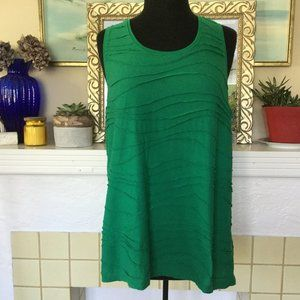 Joe Fresh Green Textured Tank Top XL
